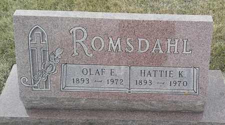 ROMSDAHL, OLAF E - Hamlin County, South Dakota   OLAF E ROMSDAHL - South Dakota Gravestone Photos