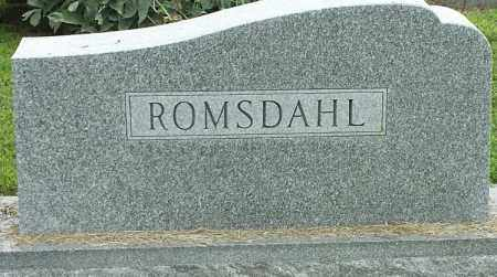 ROMSDALE, FAMILY STONE - Hamlin County, South Dakota | FAMILY STONE ROMSDALE - South Dakota Gravestone Photos