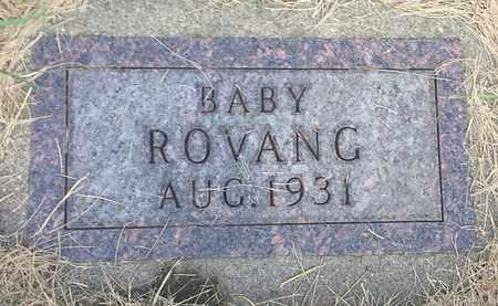 ROVANG, INFANT - Hamlin County, South Dakota | INFANT ROVANG - South Dakota Gravestone Photos
