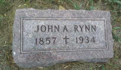 RYNN, JOHN A - Hamlin County, South Dakota | JOHN A RYNN - South Dakota Gravestone Photos
