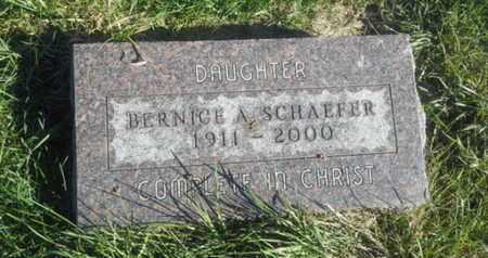 SCHAEFER, BERNICE A - Hamlin County, South Dakota   BERNICE A SCHAEFER - South Dakota Gravestone Photos