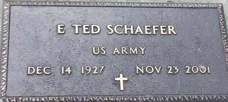 "SCHAEFER, EARL TED SCHAEFER ""MILITARY"" - Hamlin County, South Dakota | EARL TED SCHAEFER ""MILITARY"" SCHAEFER - South Dakota Gravestone Photos"