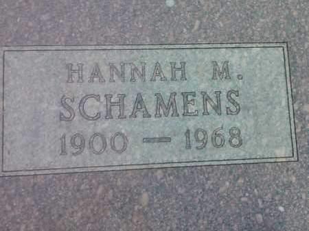 SCHAMENS, HANNAH M - Hamlin County, South Dakota   HANNAH M SCHAMENS - South Dakota Gravestone Photos
