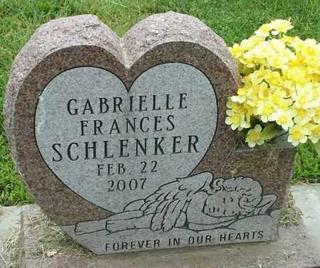 SCHLENKER, GABRIELLE FRANCES - Hamlin County, South Dakota | GABRIELLE FRANCES SCHLENKER - South Dakota Gravestone Photos