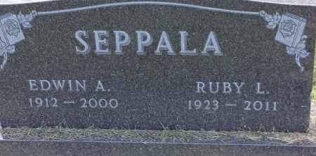 SEPPALA, EDWIN A - Hamlin County, South Dakota   EDWIN A SEPPALA - South Dakota Gravestone Photos