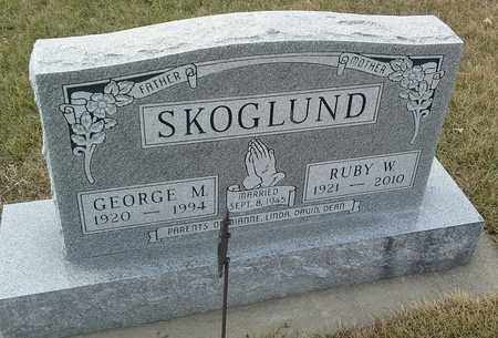 SKOGLUND, RUBY W - Hamlin County, South Dakota | RUBY W SKOGLUND - South Dakota Gravestone Photos