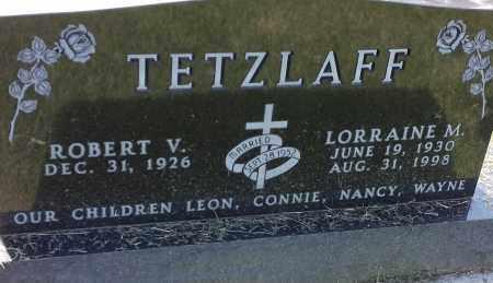 TETZLAFF, LORRAINE M - Hamlin County, South Dakota   LORRAINE M TETZLAFF - South Dakota Gravestone Photos