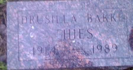 THIES, DRUSILLA - Hamlin County, South Dakota | DRUSILLA THIES - South Dakota Gravestone Photos