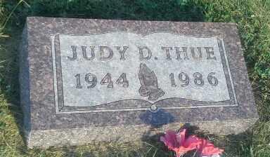 THUE, JUDY D - Hamlin County, South Dakota | JUDY D THUE - South Dakota Gravestone Photos