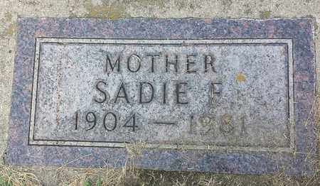 THUE, SADIE F - Hamlin County, South Dakota | SADIE F THUE - South Dakota Gravestone Photos
