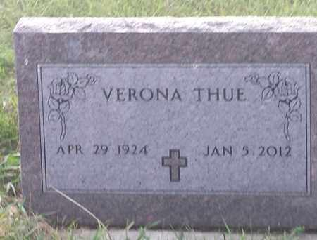 THUE, VERONA - Hamlin County, South Dakota | VERONA THUE - South Dakota Gravestone Photos