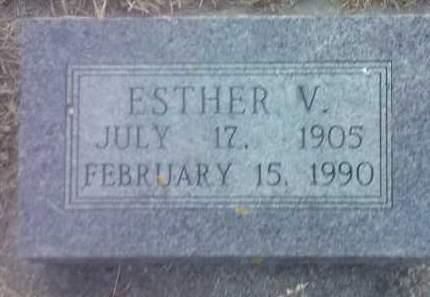 TOLSON, ESTHER V - Hamlin County, South Dakota   ESTHER V TOLSON - South Dakota Gravestone Photos