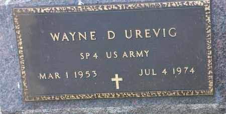 "UREVIG, WAYNE D ""MILITARY"" - Hamlin County, South Dakota 