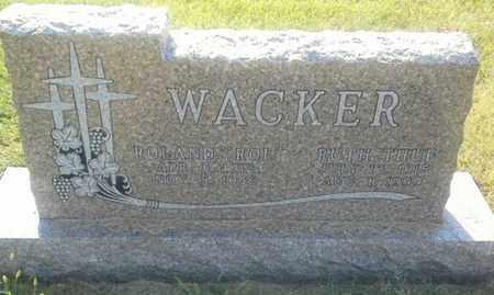 "WACKER, ROLAND ""ROI"" - Hamlin County, South Dakota | ROLAND ""ROI"" WACKER - South Dakota Gravestone Photos"