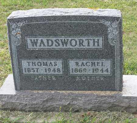 WADSWORTH, RACHEL - Hamlin County, South Dakota | RACHEL WADSWORTH - South Dakota Gravestone Photos