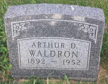 WALDRON, ARTHUR  D - Hamlin County, South Dakota   ARTHUR  D WALDRON - South Dakota Gravestone Photos