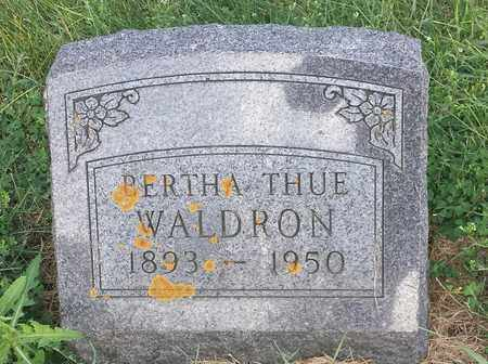 THUE WALDRON, BERTHA - Hamlin County, South Dakota | BERTHA THUE WALDRON - South Dakota Gravestone Photos