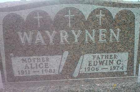 WAYRYNEN, ALICE - Hamlin County, South Dakota | ALICE WAYRYNEN - South Dakota Gravestone Photos