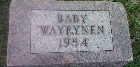 WAYRYNEN, BABY - Hamlin County, South Dakota | BABY WAYRYNEN - South Dakota Gravestone Photos