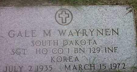 WAYRYNEN, GALE M (MILITARY) - Hamlin County, South Dakota | GALE M (MILITARY) WAYRYNEN - South Dakota Gravestone Photos