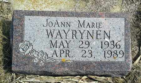 WAYRYNEN, JOANN MARIE - Hamlin County, South Dakota | JOANN MARIE WAYRYNEN - South Dakota Gravestone Photos