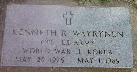 WAYRYNEN, KENNETH R - Hamlin County, South Dakota | KENNETH R WAYRYNEN - South Dakota Gravestone Photos
