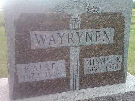 WAYRYNEN, MINNIE R - Hamlin County, South Dakota | MINNIE R WAYRYNEN - South Dakota Gravestone Photos