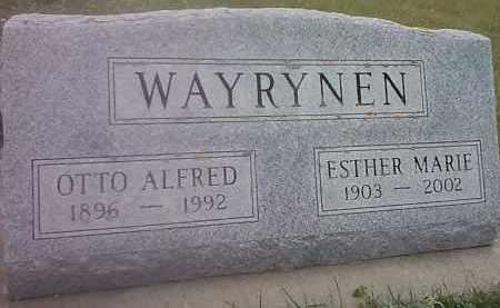 WAYRYNEN, OTTO ALFRED - Hamlin County, South Dakota | OTTO ALFRED WAYRYNEN - South Dakota Gravestone Photos
