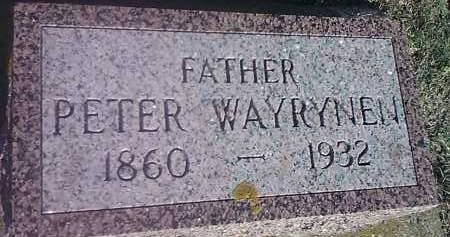 WAYRYNEN, PETER - Hamlin County, South Dakota | PETER WAYRYNEN - South Dakota Gravestone Photos