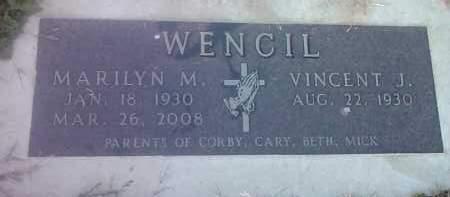WENCIL, VINCENT J - Hamlin County, South Dakota | VINCENT J WENCIL - South Dakota Gravestone Photos