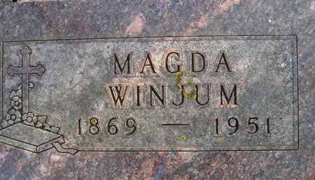 WINJUM, MAGDA - Hamlin County, South Dakota   MAGDA WINJUM - South Dakota Gravestone Photos