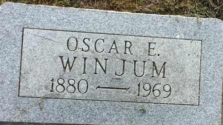 WINJUM, OSCAR E - Hamlin County, South Dakota | OSCAR E WINJUM - South Dakota Gravestone Photos