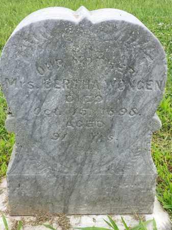 WONGEN, BERTHA W - Hamlin County, South Dakota   BERTHA W WONGEN - South Dakota Gravestone Photos