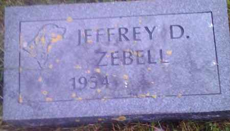 ZEBELL, JEFFREY D - Hamlin County, South Dakota | JEFFREY D ZEBELL - South Dakota Gravestone Photos