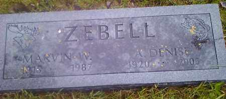 ZEBELL, MARVIN W - Hamlin County, South Dakota | MARVIN W ZEBELL - South Dakota Gravestone Photos