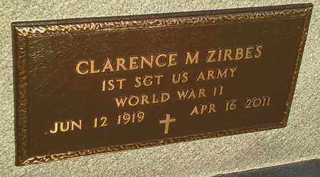 "ZIRBES, CLARENCE M ""MILITARY"" - Hamlin County, South Dakota | CLARENCE M ""MILITARY"" ZIRBES - South Dakota Gravestone Photos"