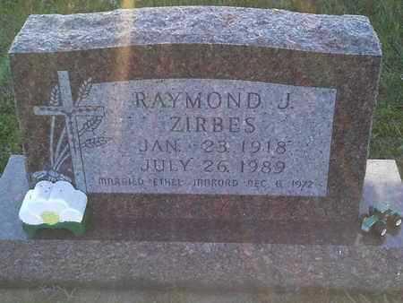 ZIRBES, RAYMOND J - Hamlin County, South Dakota   RAYMOND J ZIRBES - South Dakota Gravestone Photos