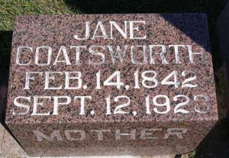 COATSWORTH, JANE - Hanson County, South Dakota   JANE COATSWORTH - South Dakota Gravestone Photos