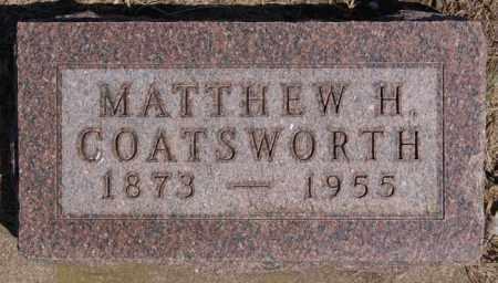 COATSWORTH, MATTHEW H - Hanson County, South Dakota | MATTHEW H COATSWORTH - South Dakota Gravestone Photos