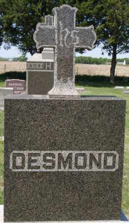 DESMOND, FAMILY MARKER - Hanson County, South Dakota   FAMILY MARKER DESMOND - South Dakota Gravestone Photos