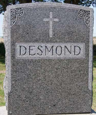 DESMOND, FAMILY MARKER - Hanson County, South Dakota | FAMILY MARKER DESMOND - South Dakota Gravestone Photos