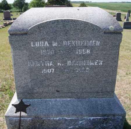DEXHEIMER, LORA M - Hanson County, South Dakota | LORA M DEXHEIMER - South Dakota Gravestone Photos