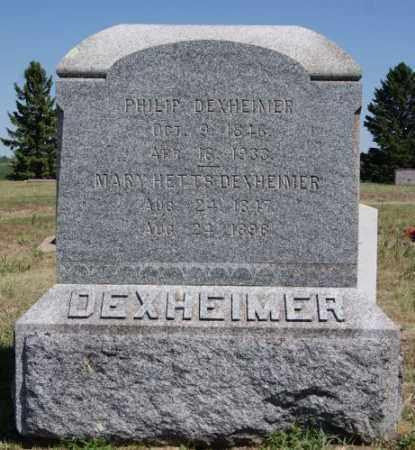 DEXHEIMER, PHILIP - Hanson County, South Dakota | PHILIP DEXHEIMER - South Dakota Gravestone Photos