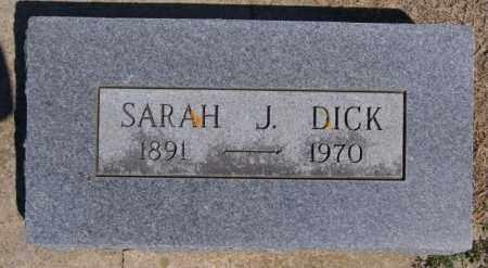 DICK, SARAH J - Hanson County, South Dakota | SARAH J DICK - South Dakota Gravestone Photos