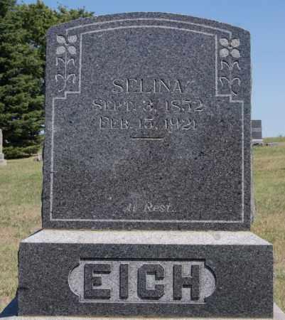 EICH, SELINA - Hanson County, South Dakota | SELINA EICH - South Dakota Gravestone Photos