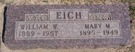 EICH, WILLIAM W - Hanson County, South Dakota | WILLIAM W EICH - South Dakota Gravestone Photos