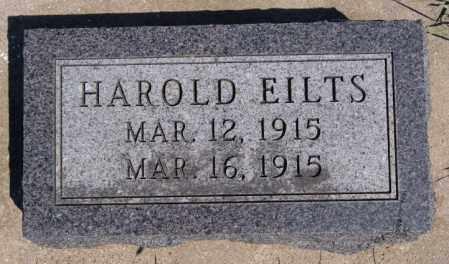EILTS, HAROLD - Hanson County, South Dakota | HAROLD EILTS - South Dakota Gravestone Photos