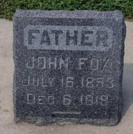 FOX, JOHN - Hanson County, South Dakota   JOHN FOX - South Dakota Gravestone Photos