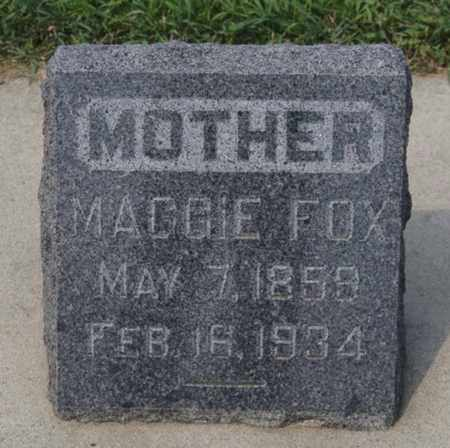 FOX, MAGGIE - Hanson County, South Dakota | MAGGIE FOX - South Dakota Gravestone Photos