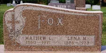 FOX, LENA M - Hanson County, South Dakota | LENA M FOX - South Dakota Gravestone Photos